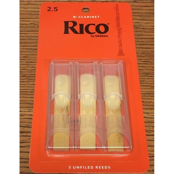 Reeds THREE Rico Brand 2.5 B Flat Clarinet