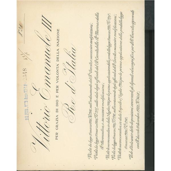 King Victor Emmanuel III signed official decree