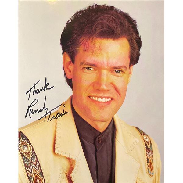 Randy Travis signed photo