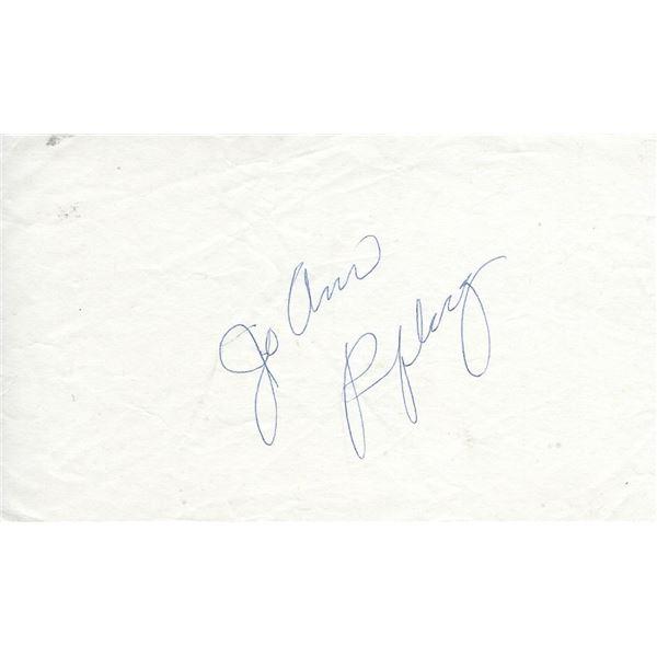 Jo Ann Pflug original signature