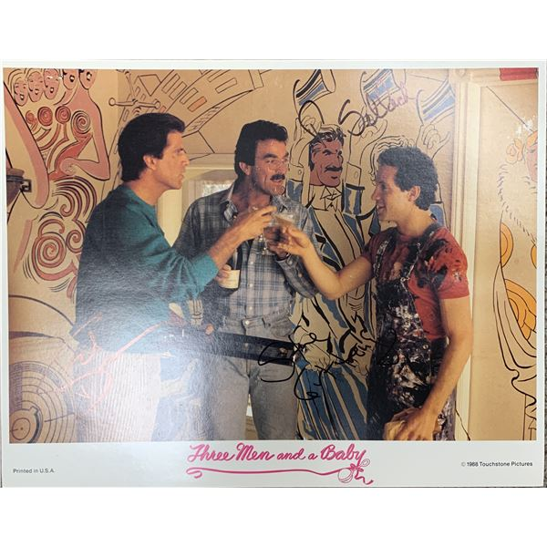 Three Men And A Baby cast signed photo