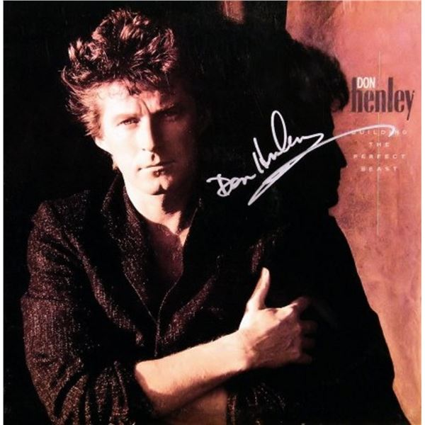 Don Henley signed Building The Perfect Beast album