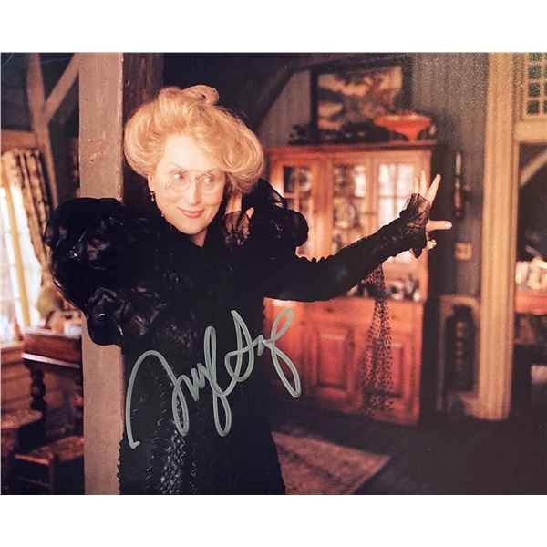 Lemony Snicket's A Series of Unfortunate Events Meryl Streep signed movie photo