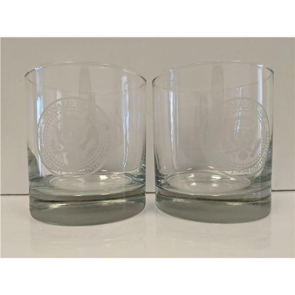Donald Trump Presidential Seal Rocks Glasses (Set of 2)