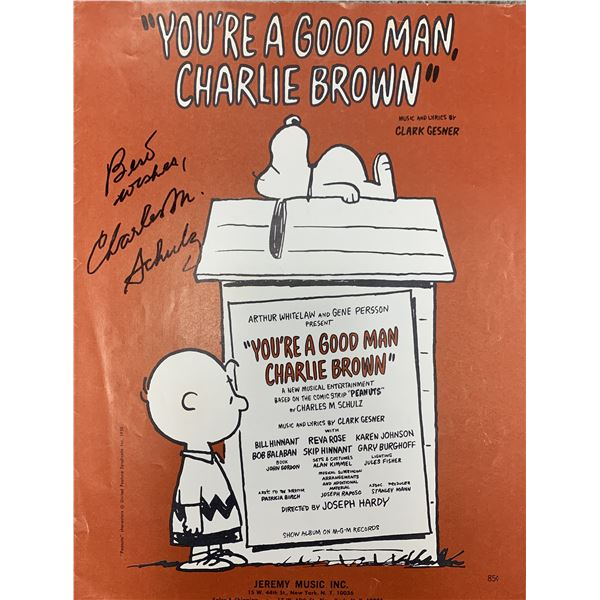 Charles Schulz You're a Good Man Charlie Brown signed sheet music