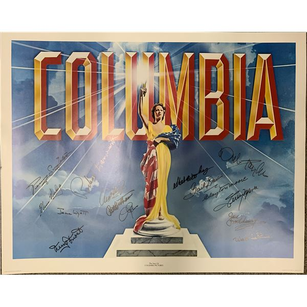 Columbia Pictures signed poster