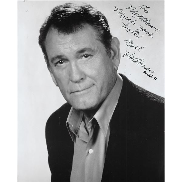 Police Story Earl Holliman signed photo
