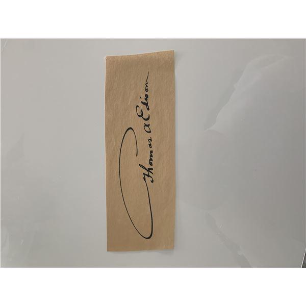 Thomas Edison original signature