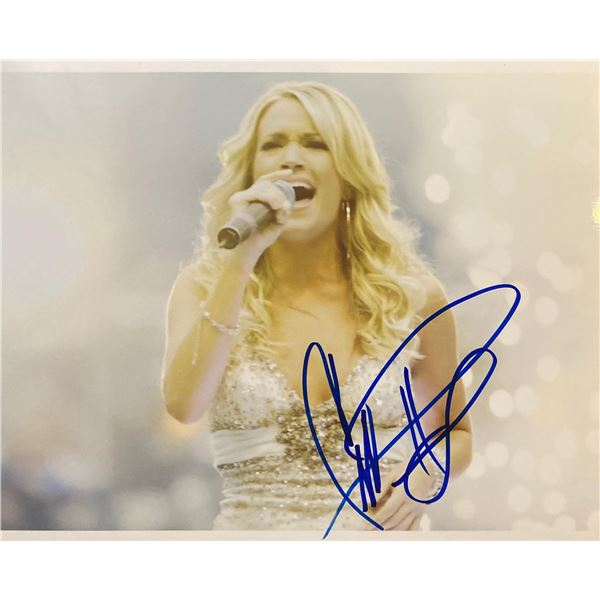 Carrie Underwood signed photo