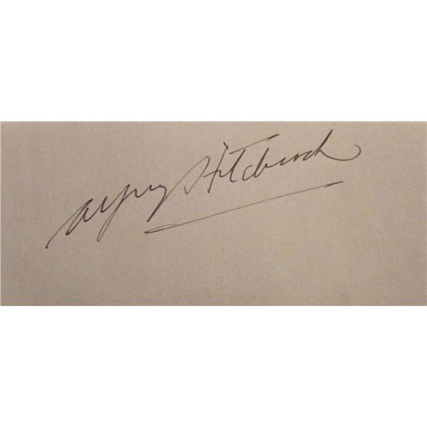 Alfred Hitchcock signature slip