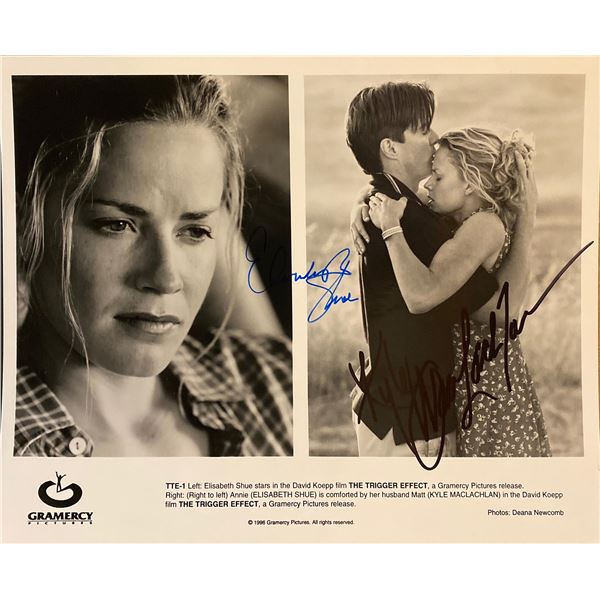 The Trigger Effect Elisabeth Shue and Kyle MacLachlan signed movie photo