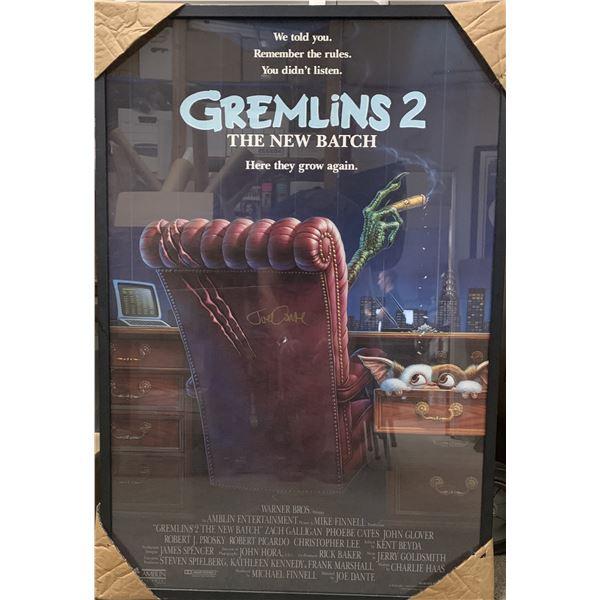 Joe Dante Gremlins 2 signed poster