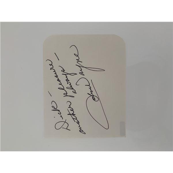 John Wayne original signature