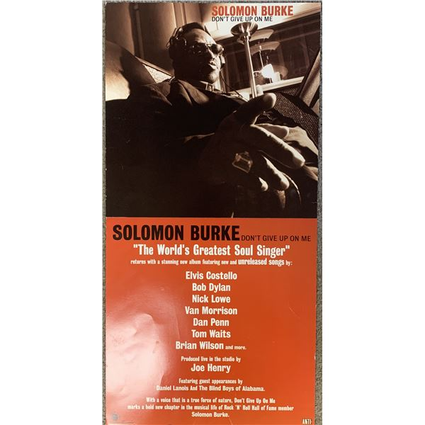 Solomon Burke Don't Give Up On Me promo poster
