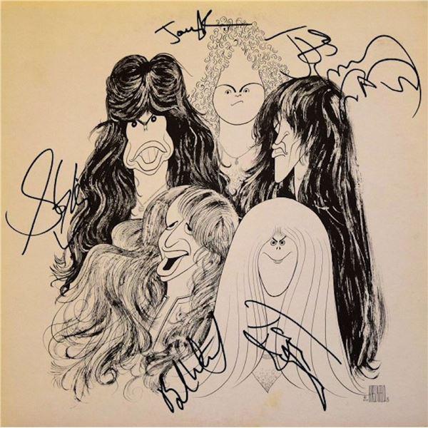 Aerosmith Draw the Line signed album