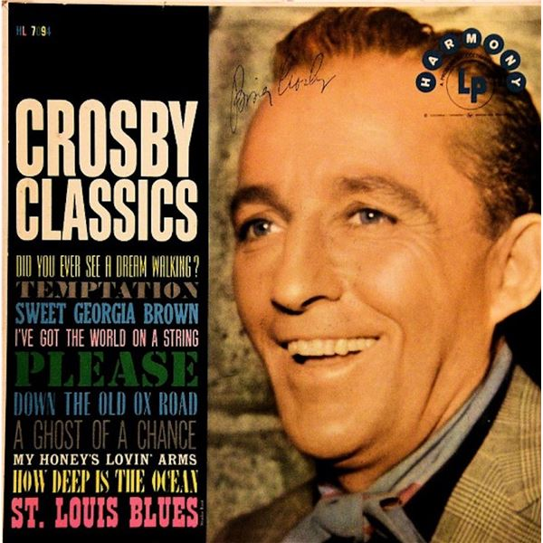 Bing Crosby Classics signed album