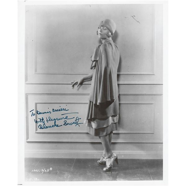 Silent film star Blanche Sweet signed photo