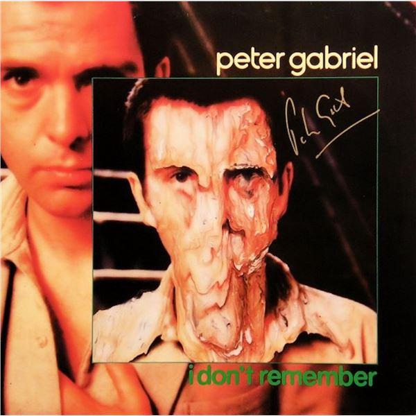 Peter Gabriel I Don't Remember signed album
