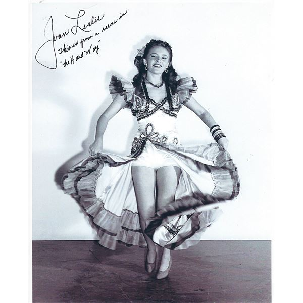 Joan Leslie signed photo