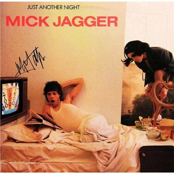 """Mick Jagger signed """"Just Another Night"""" album"""