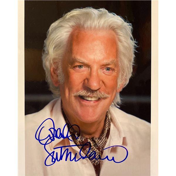 Donald Sutherland signed photo