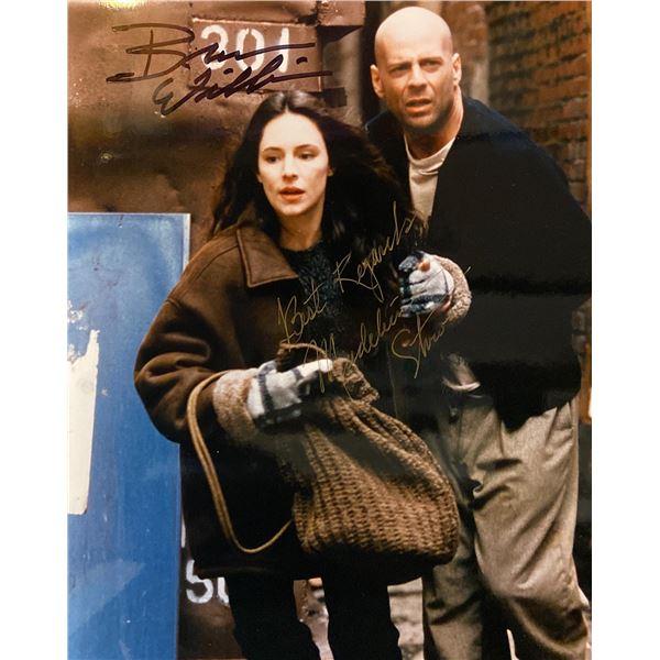 12 Monkeys Bruce Willis and Madeleine Stowe signed movie photo