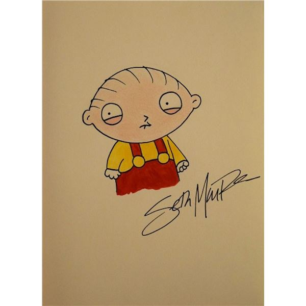 Family Guy Stewie Griffin original Seth MacFarlane signed drawing