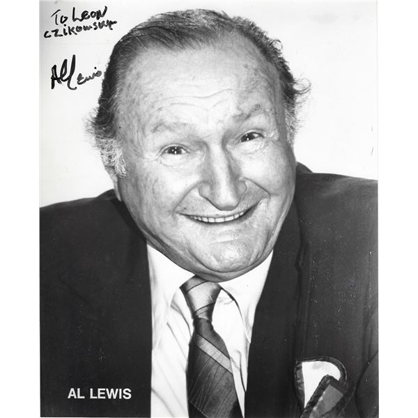 The Munsters Al Lewis signed photo
