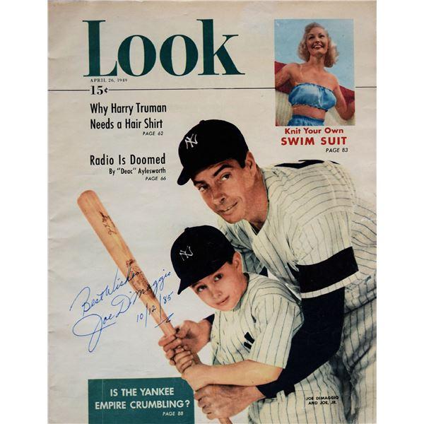 Joe DiMaggio signed Look Magazine