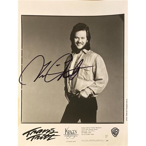 Travis Tritt signed photo
