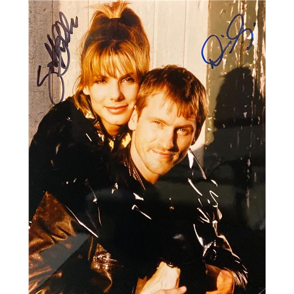 Two If by Sea Sandra Bullock and Denis Leary signed movie photo