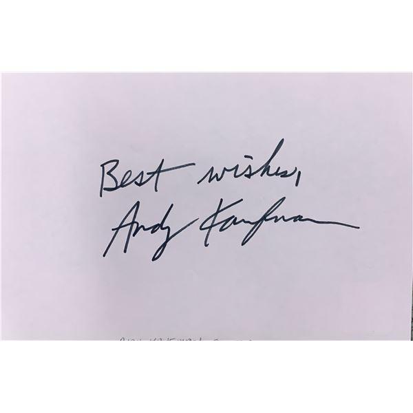 Andy Kaufman original signature
