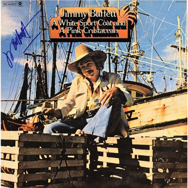 Jimmy Buffett signed A White Sport Coat and a Pink Crustacean 1973 double album