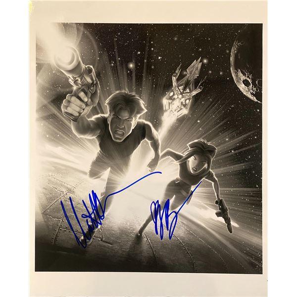 Titan A.E. Matt Damon and Drew Barrymore signed movie photo