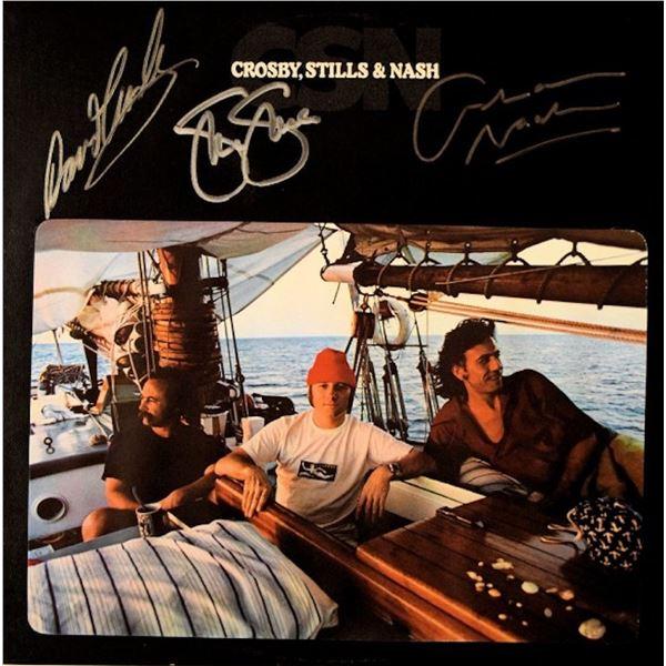 Crosby, Stills, & Nash signed album