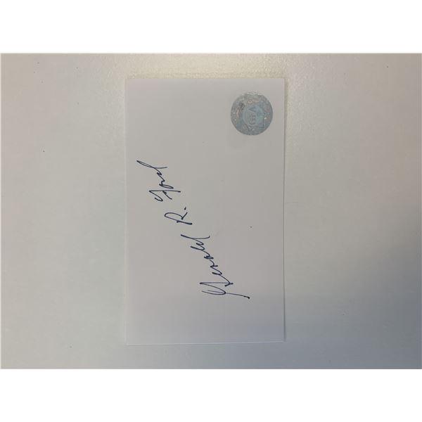 Gerald Ford original signature