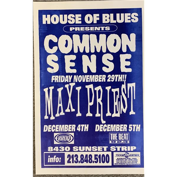 Common Sense Maxi Priest promo poster