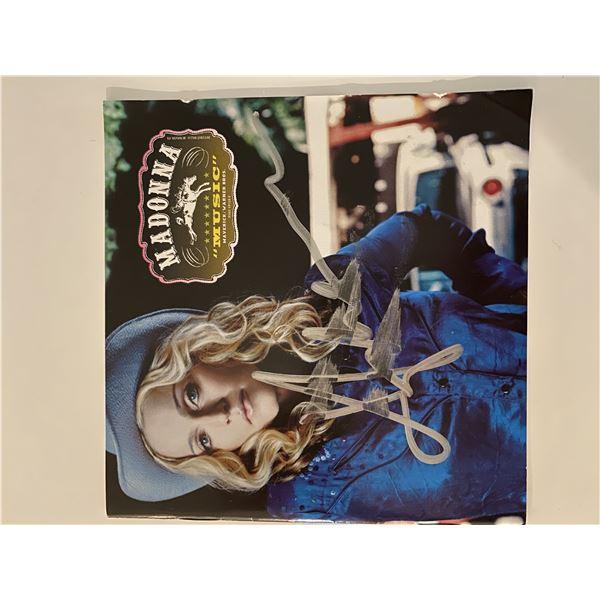 Madonna Music signed CD album insert