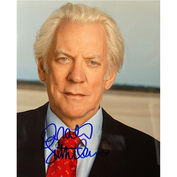 Commander in Chief Donald Sutherland signed photo