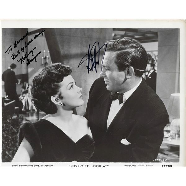 Lovely to Look At Kathryn Grayson and Howard Keel signed movie photo