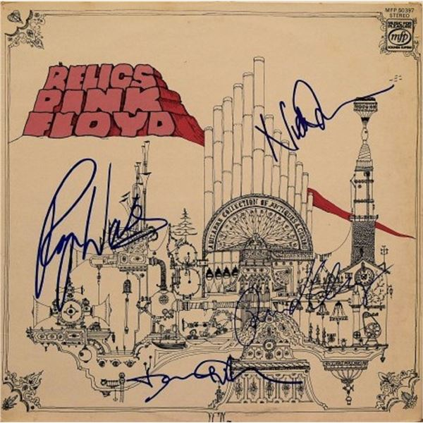 "Pink Floyd signed ""Relics"" album"
