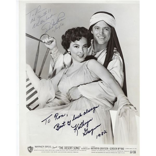 The Desert Song Kathryn Grayson and Gordon MacRae signed movie photo