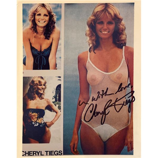 Cheryl Tiegs signed photo