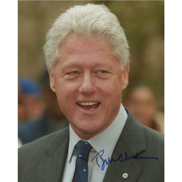 President Bill Clinton signed photo