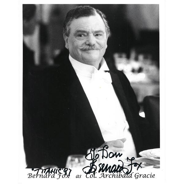 Titanic Bernard Fox signed movie photo
