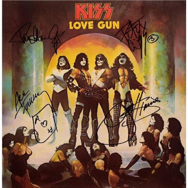 "Kiss signed ""Love Gun"" album"