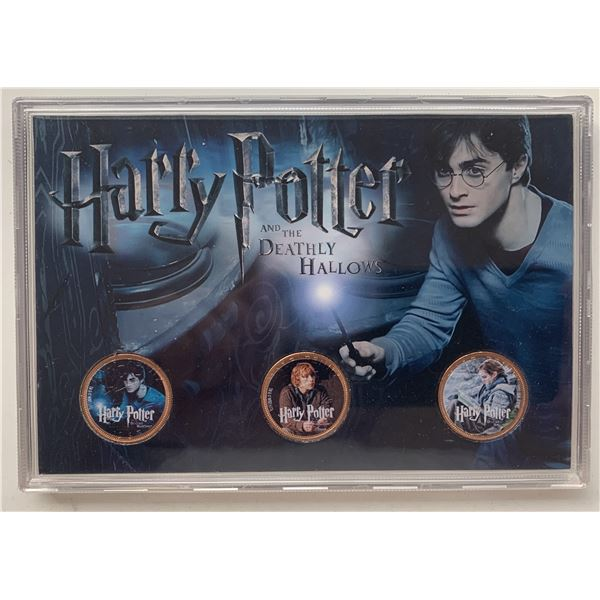 Harry Potter Deathly Hollows commemorative coin set
