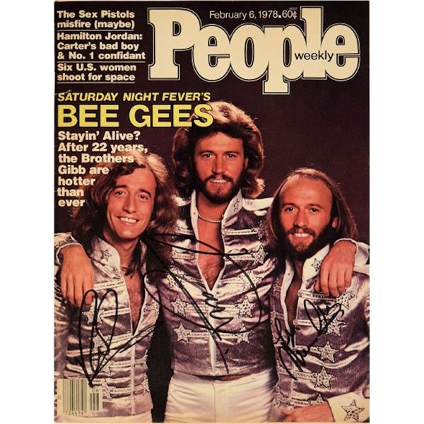 The BeeGees signed 1978 People Magazine