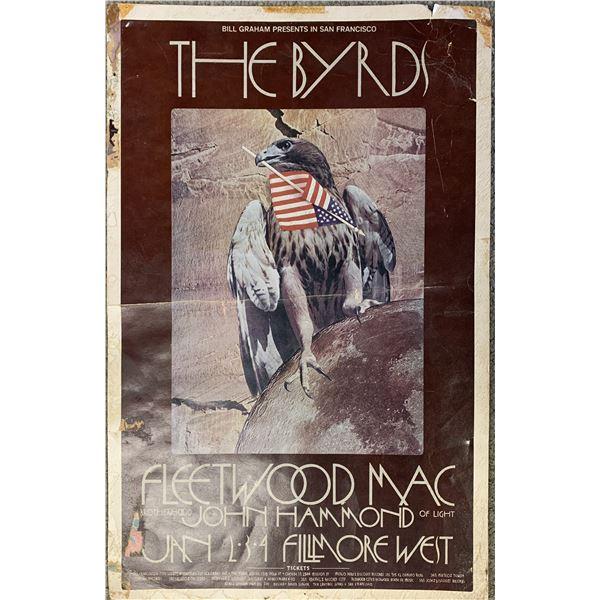 The Byrds Fleetwood Mac original Fillmore poster