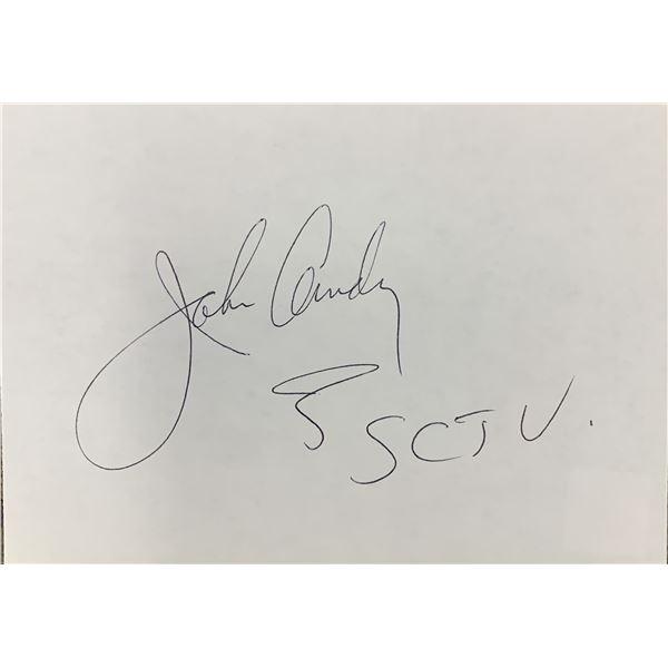 John Candy original signature